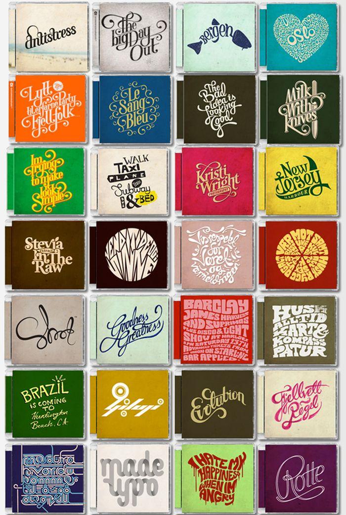 Typographic CD covers