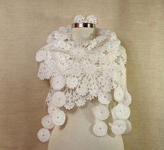 Майские цветы / Вязание крючком кружева платок Wrap Шарф Свадебный по lilithist