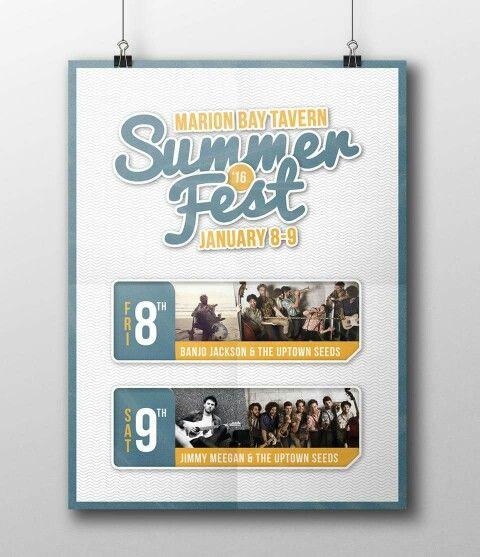 Gig Poster Design for the 2016 Summer Fest held in Marion Bay, South Australia