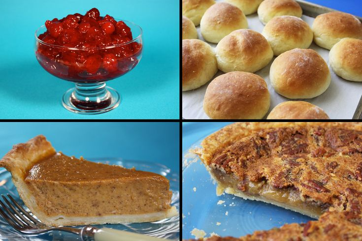 ... easy dinner rolls, pumpkin pie made without butter, and easy pecan pie