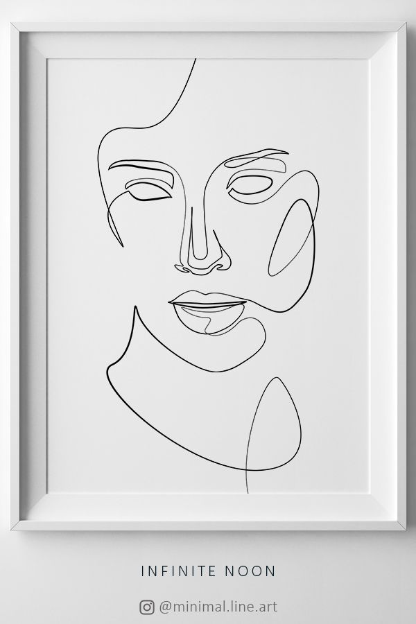 980e20ac40829 Minimalist line wall décor. Abstract line artwork, One line illustration.  Facial woman sketch. Minimal modern face art. Minimal tattoo line  inspiration.