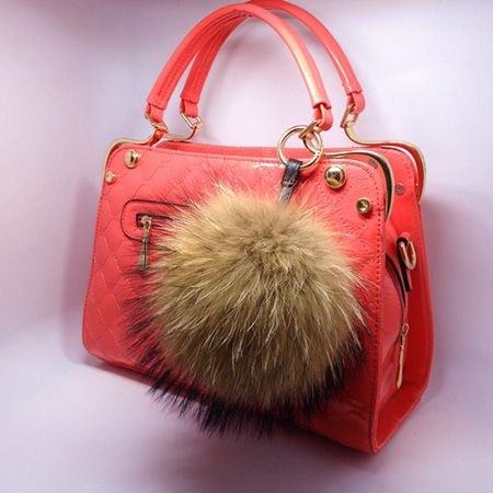 Big Size 15cm Luxury Pom pom Real natural Raccoon fur balls pompom fluffy keychain hanging fur ball key chain Keyring bag charm-in Key Chains from Jewelry & Accessories on Aliexpress.com | Alibaba Group