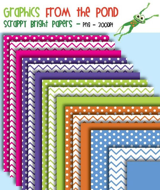 Graphics From the Pond: FREE Bright Scrappy Numbers Super Pack