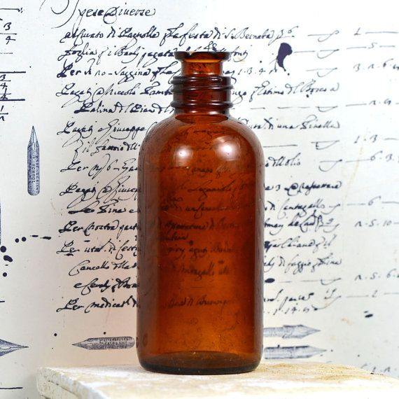 Vintage amber jar  collectable.   medical curiosity by CoolVintage