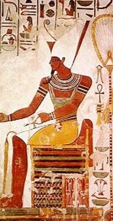 Atum In Heliopolis, the creation was attributed to Atum, a deity closely associated with Ra, who was said to have existed in the waters of Nu as an inert potential being. Atum was a self-engendered god