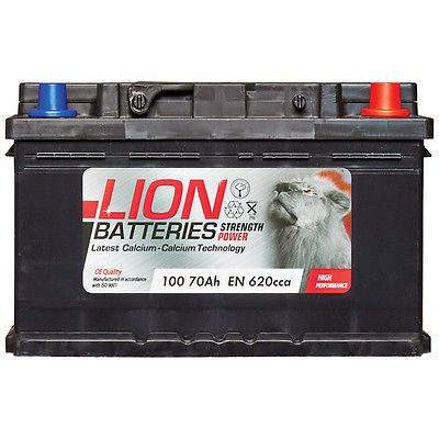 3 Years Warranty Lion Batteries Car Battery 70Ah Type 031 540CCA OEM Replacement