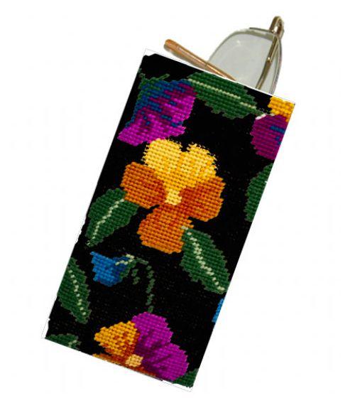 Pansy Garden on Black Spec Case Kit