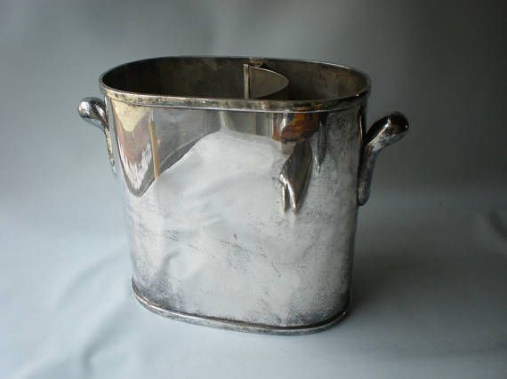 Vintage Silverplate Wine Cooler Bucket Vintage Silverplate Wine Cooler Silver Plate