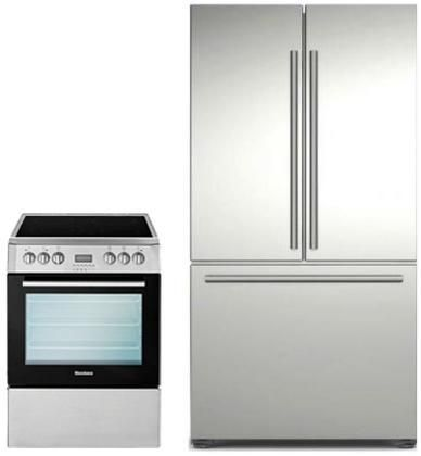 """BERU24100SS 24"""" Wide Electric Convection Free Standing Range Digital Control 2.3 cu. ft. Multifunction Oven Capacity Oven Lights Conventional Cooking: Stainless Steel/Black"""