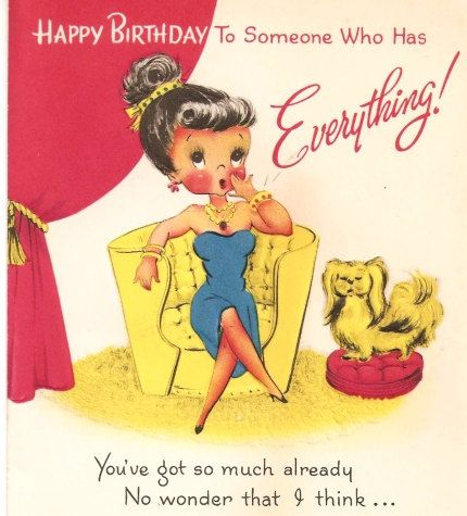 Vintage Birthday Card | Cards, Dolls, Ads & Wrap | Pinterest