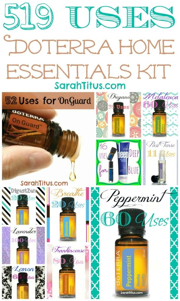 519 uses for home essentials kit To buy please go to my website-> http://www.mydoterra.com/karlasnow/