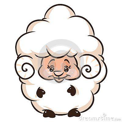 Little lamb cartoon illustration isolated image animal character
