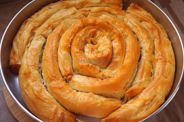 Spiral-Shaped Greek Cheese Pie