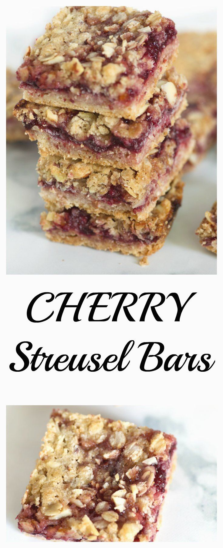Cherry Streusel Bars are a wonderful way to showcase frozen cherries and they ship well if you want to share with a friend.