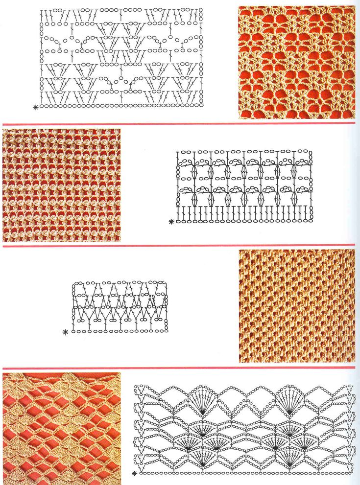 рисунок вязания крючком схемы для начинающих клику все