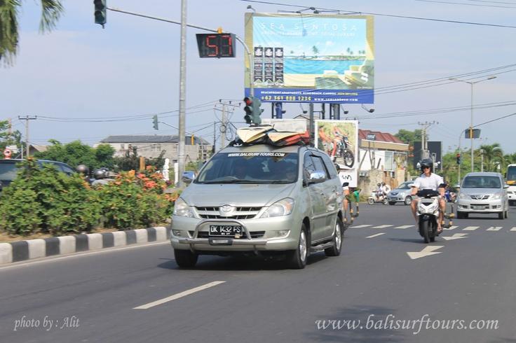 on the way to the serangan surf spot island,,