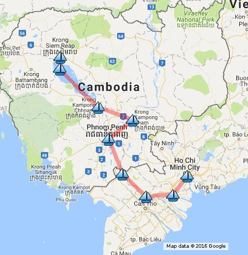 Luxury Mekong River Cruise Saigon To Siemreap Map In The