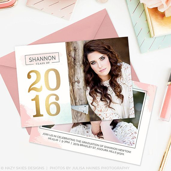 320 best Senior Graduation Announcements images on Pinterest - graduation announcement template