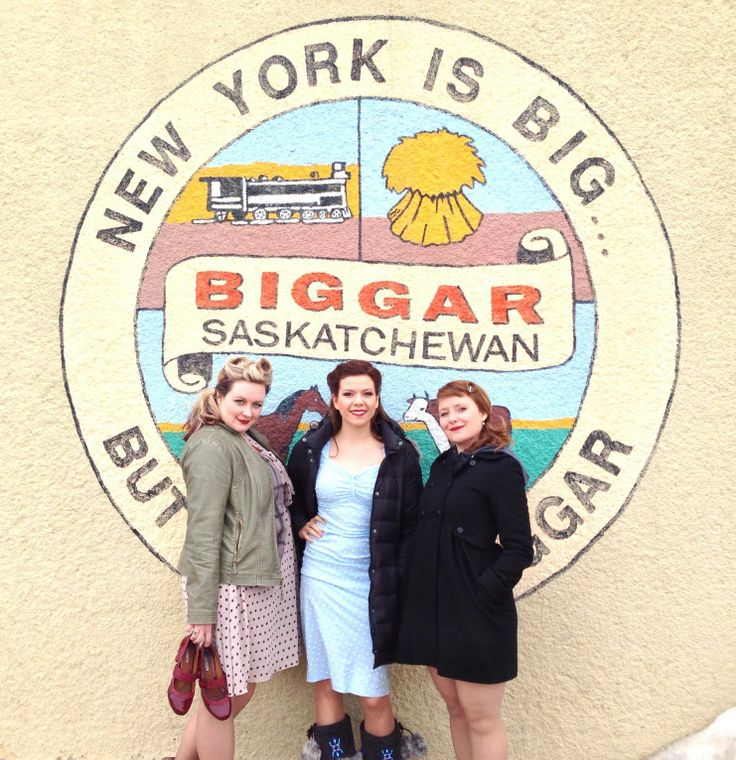 Rosie and the Riveters in Biggar, Saskatchewan on their 2012/2013 Tour.