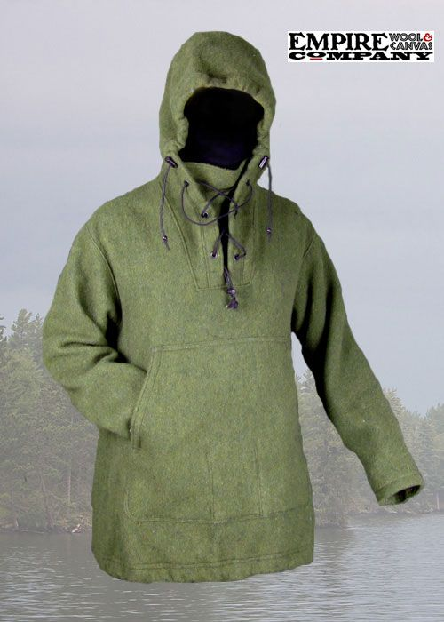 Wool Boreal Shirt, made by Empire Wool and Canvas Company & Lester River Bushcraft