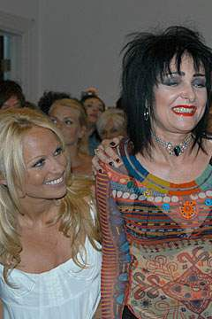 Siouxsie Sioux and Pamela Anderson at P.E.T.A.'s  First Annual Humanitarian Awards 6/28/06.