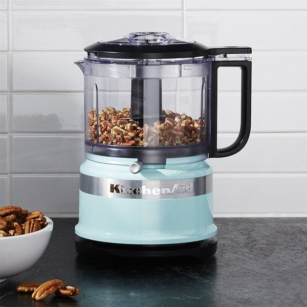 Crate & Barrel KitchenAid ® Ice Blue 3.5 Cup Food Chopper (€37) ❤ liked on Polyvore featuring home, kitchen & dining, small appliances, compact food processor, kitchenaid food processor, kitchen aid food processor, kitchen aid small appliances and kitchen aid food chopper