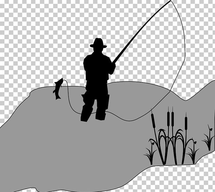 Fishing Fisherman Png Clipart Angle Art Black Black And White Cartoon Free Png Download Png Free Png Downloads Free Png