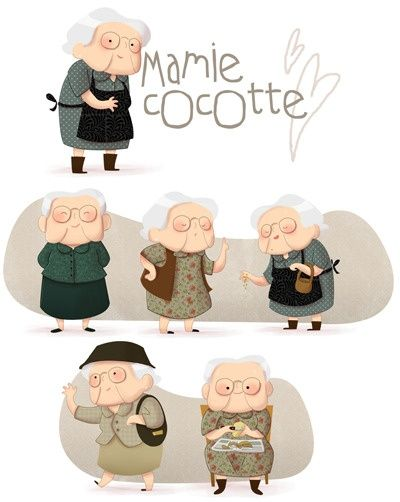 这个老奶奶太可爱太可爱啦~~~~~~【阿团丸子】 https://www.facebook.com/CharacterDesignReferences