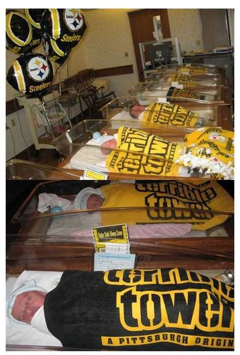 Brain washed: Becoming a Steeler fan begins early in life.