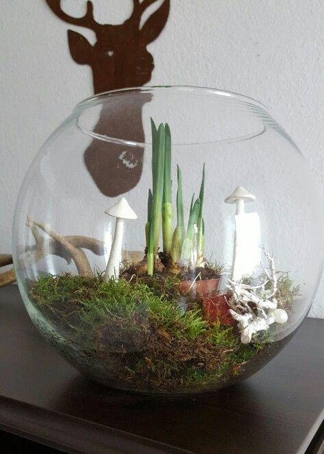 Frühjahrsdeko im Glas