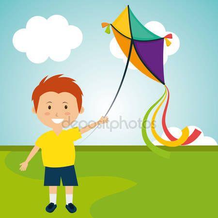 depositphotos_87537134-stock-illustration-kite-flying-in-cloudscapes.jpg (450×450)