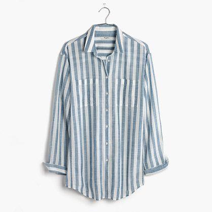 Oversized Button-Down Shirt in Major Stripe - $79.50