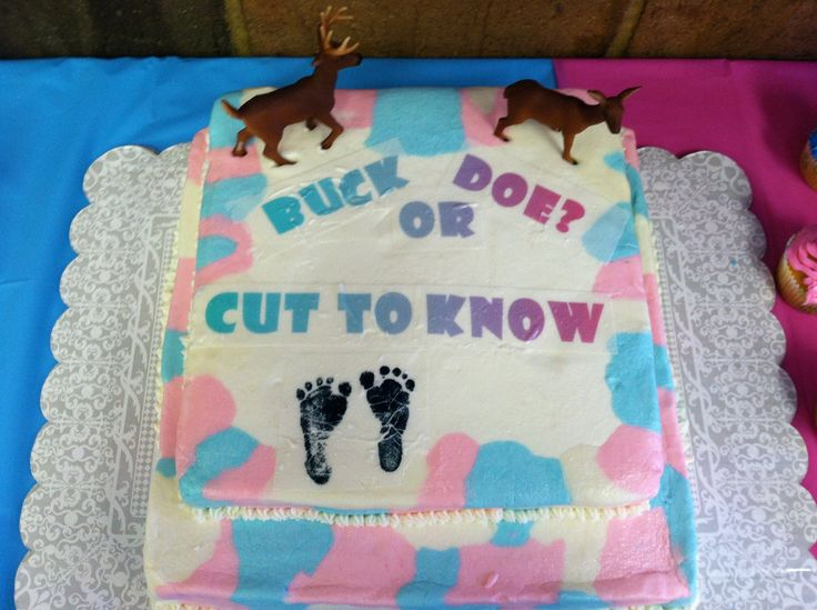 Baby Reveal Cake that I did for my cousin!