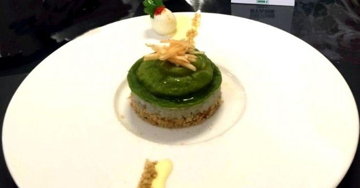 L'oeuf en robe verte,Topinambours en 3 façons et son Sabayon acidulé par Bibaches de l'agence d'Arras, recette qualifiée pour la demi-finale Thermostars