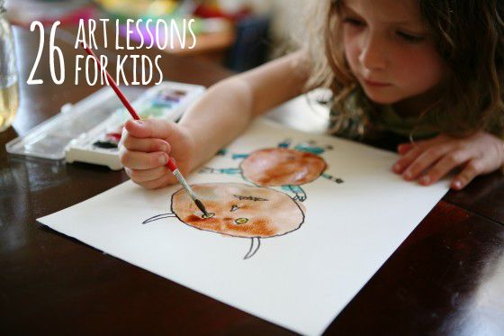 26 free art lessons for kids