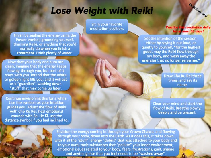 [Infographic] Lose Weight with Reiki Meditation