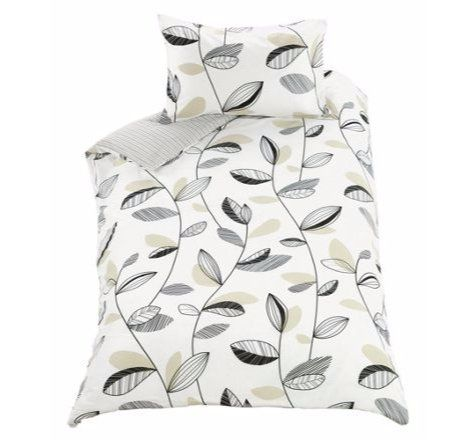 Classy Leaves Bedding Set (Duvet Cover With Pillow Case) Reversible Elegant Stripes - Single. duvet set http://www.amazon.co.uk/dp/B01B633GUK/ref=cm_sw_r_pi_dp_BvLWwb0NJE6BF