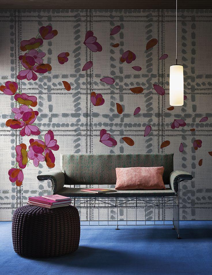Scottish blu www.wallanddeco.com #wallpaper, #wallcovering, #cartedaparati