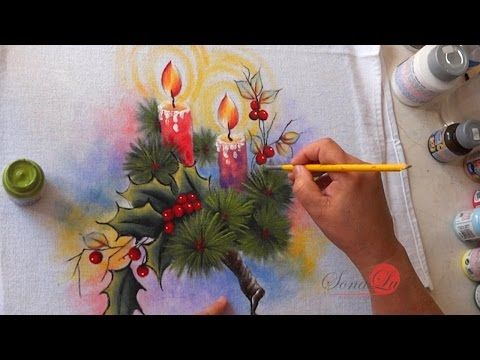 Velas Natalinas em Tecido (Natal 3 / 2016) - YouTube
