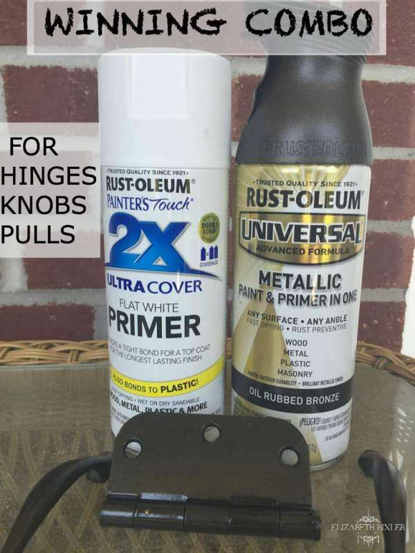 Spray Paint My Kitchen Cabinet Hinges Black