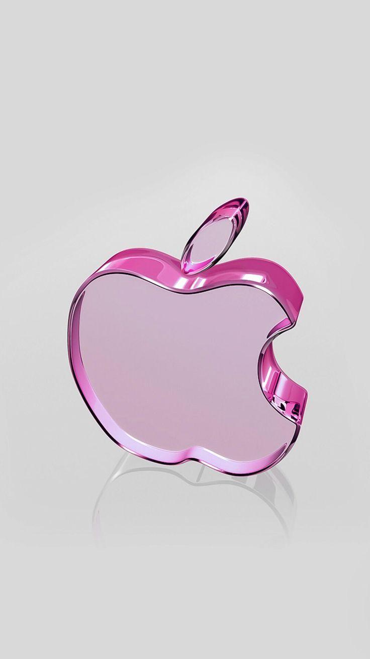 Pink Apple Pink Wallpaper Iphone Wallpaper Iphone Cute Iphone Logo