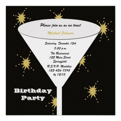 M s de 25 ideas incre bles sobre invitaciones de - Modelos de tarjetas de cumpleanos para adultos ...