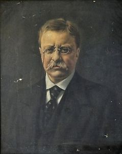 american+presidents+portraits+or+pictures | Details about RARE PORTRAIT OF AMERICAN PRESIDENT THEODORE ROOSEVELT ...
