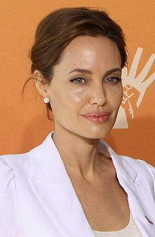 "Angelina Jolie Global Summit 2014.jpg..Have to say, ""A Mighty Heart."""