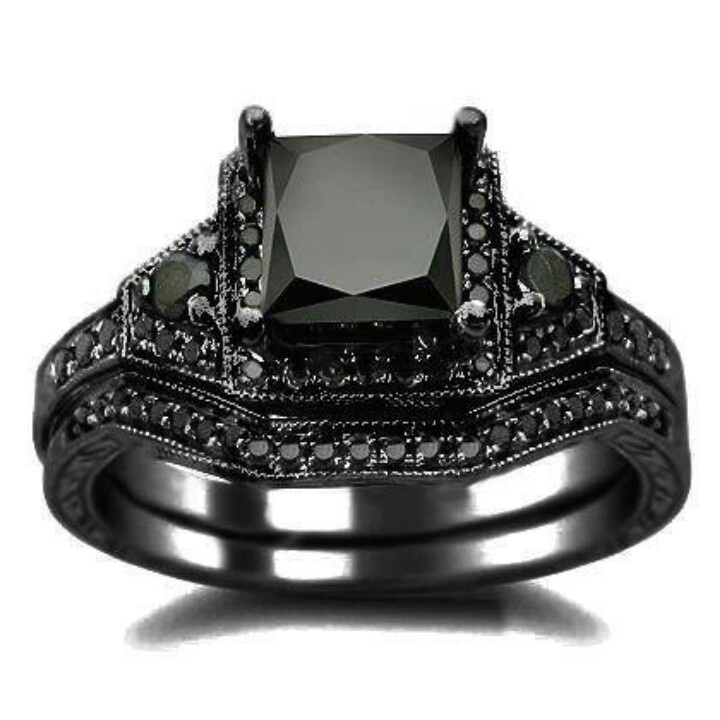find this pin and more on black onyx elagant black princess cut diamond engagement ring wedding