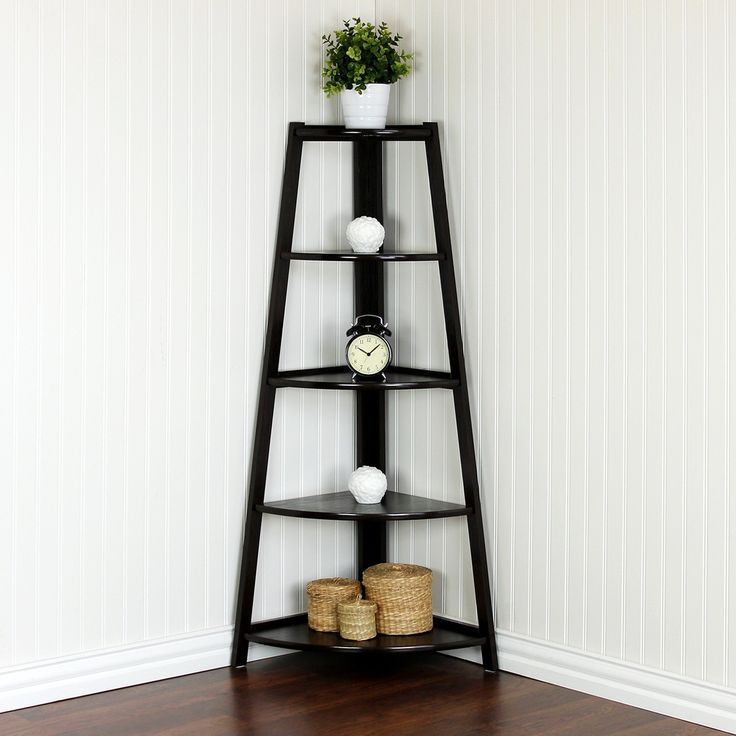 Best 25 corner ladder shelf ideas on pinterest ladder Corner wall mounted shelves