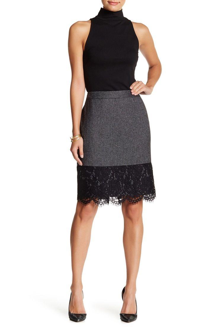 Beautiful Vince Camuto Tweed Pencil Skirt
