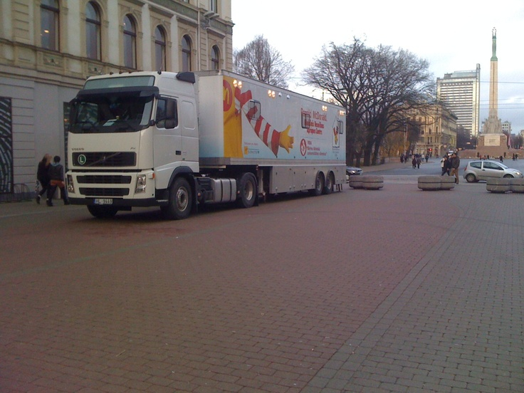 The Ronald McDonald Care Mobile in Latvia delivering cost-effective, quality medical care to children in more vulnerable communities.: Latvia Deliv, Quality Medical, Mcdonald'S Care, Vulnerability Community, Deliv Cost Effects, Medical Care, Care Mobiles, Ronald Mcdonald'S
