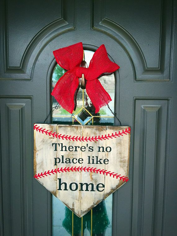There's no place like home home plate sign by QueenBCreations1