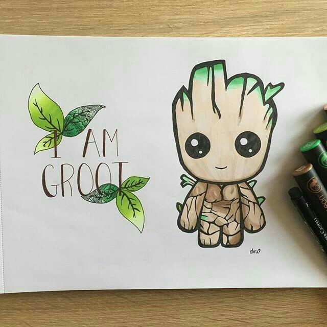 Meine Disney Zeichnung – Groot – #dessin #Disney #Groot #meine #Zeichnung #wand